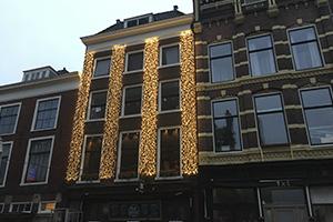 kerstverlichting de Sjees in Delft