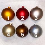 Bronskleurige kunststof kerstbal - 80mm _