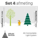 set kerstlichtjes voor kerstboom