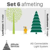 set kerstverlichting grote boom