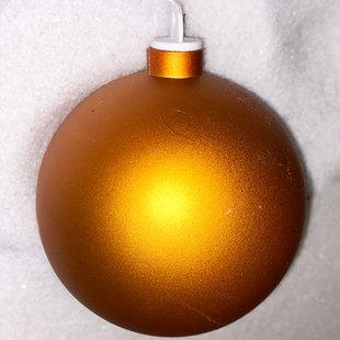 Koperkleurige kunststof kerstbal - 80mm
