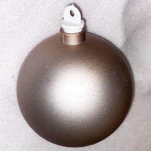Zacht-roze kunststof kerstbal - 80mm