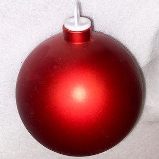 Rode kunststof kerstbal - 80mm