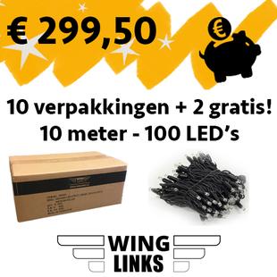 12 verpakkingen - 10m met 100 LED's