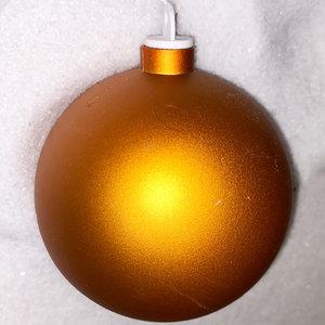 koperkleurige kerstbal