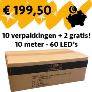 12 verpakkingen - 10m met 60 LED's